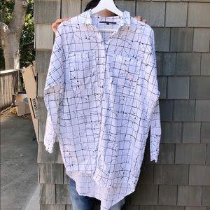 ASOS Oversized Long Checked Shirt